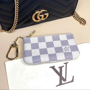 Louis Vuitton Damier Azur Cles / Key Chain Pouch